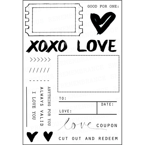 Love Coupon Stamp Set