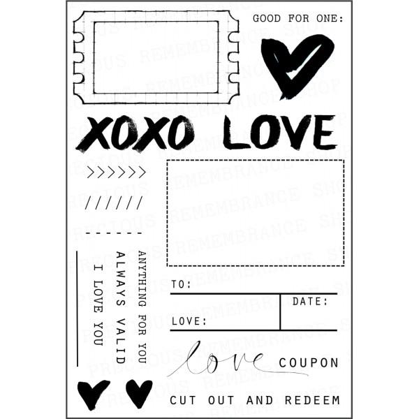 love coupon stamp set