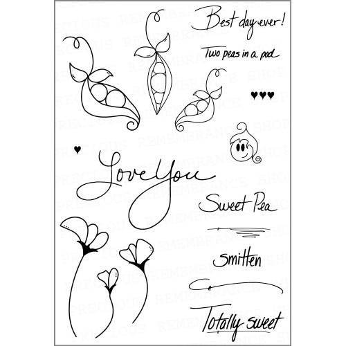 Sweet Pea Stamp Set